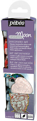 Pebeo Discovery Set FANTASY MOON Multi Surface Reactive Paint 6 x 20ml Colours