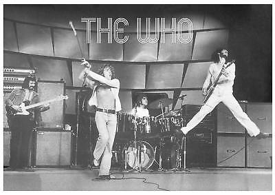 """The Who on stage  70's Logo POSTER 34"""" x 24"""""""