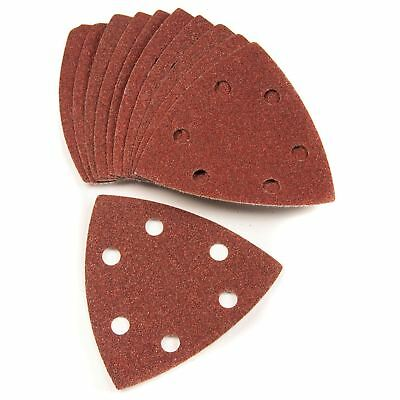 120 Grit (Medium) Triangle Detail Sander Sheets 90mm Hook and Loop Mouse 10 Pack