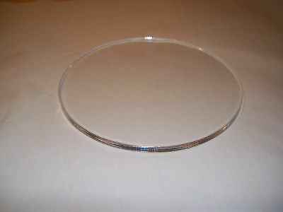 8 Inch Acrylic Disc  203 Mm @  5Mm Thick Polished Edge
