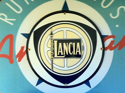LANCIA - Porcelain Plated Metal Sign - Shipping Discounts