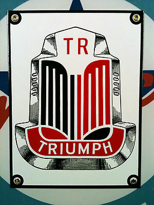 TRIUMPH - Porcelain Plated Metal Sign - Shipping Discounts
