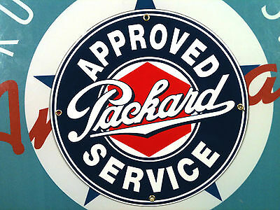 PACKARD APPROVED SERVICE- Porcelain Plated Metal Sign - Shipping Discounts