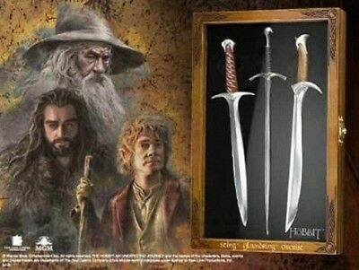 The Hobbit Letter Opener Set: Sting, Orcrist & Glamdring Official Noble Product
