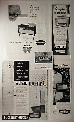Lot Anciennes Publicites Annees 50 Special Radio