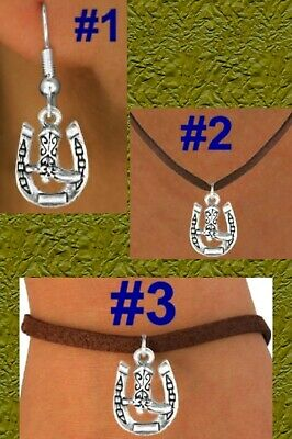 Horseshoe Boot Horse Heart Cowboy Hat Spurs Cowgirl Western Barrel Rodeo Jewelry