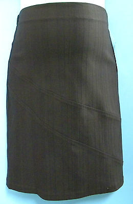 Maternity brown knee length skirt size 10 NEW Half price