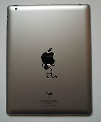 Stick Man Lifting Decal - Vinyl Sticker for iPad Mac Macbook iLift Carry Tablet