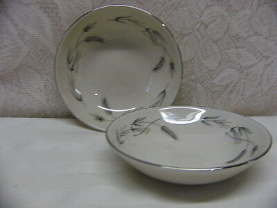 TAYLOR SMITH TAYLOR CHINA*SILVER WHEAT*TWO FRUIT BOWLS