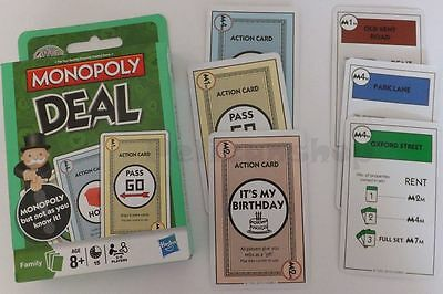 Monopoly Deal Cards Uk Streets Version From Hasbro Family Fun Travel Game Card