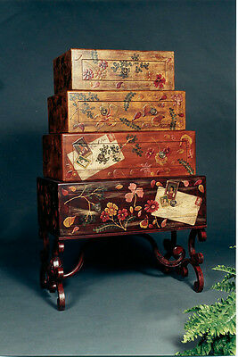 Suitcase stacked-look Chest of Drawers Bureau