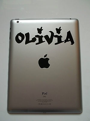 1 x iPad Personalised Name Decal Sticker Whoa Custom Name Car Laptop Tablet