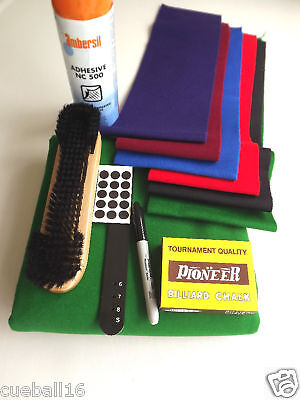 POOL TABLE RECOVERING CLOTH / SERVICE KIT FOR all 7ft - 7x4 ENGLISH POOL TABLES