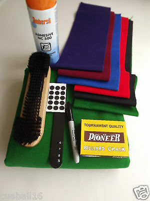 6x3 6ft POOL TABLE RECOVERING CLOTH /SERVICE KIT FOR 6ft-6x3 ENGLISH POOL TABLES