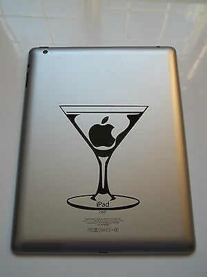 1 x Apple Martini Sticker Vinyl Decal for iPad Mac Decal Tablet Air funny joke
