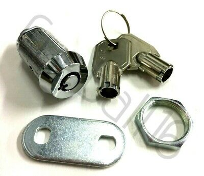1 x High Security- Round Key BARREL LOCK FOR FRUIT / QUIZ MACHINES / POOL TABLES