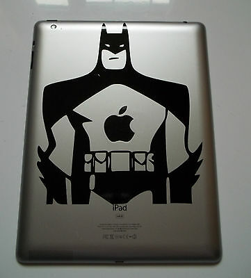1 x Batman Figure Sticker Vinyl Decal for iPad Mac Macbook Comic Car Window