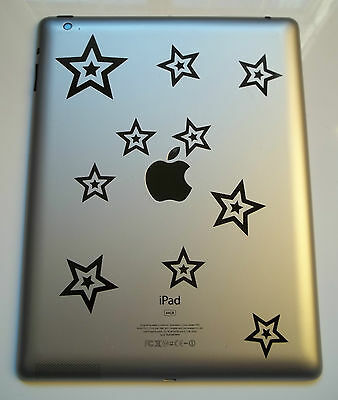 10 x Double Stars Decals - Vinyl Stickers for Samsung Tablet kids Star tab Note