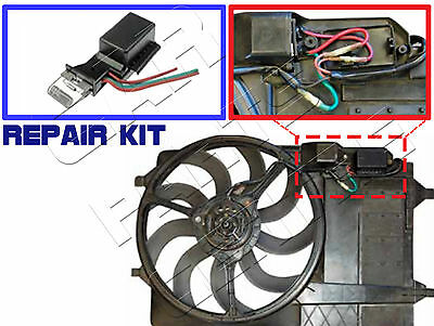 For Mini One Cooper S 1.6 R50 R53 Cooling Radiator Fan Resistor Switch Kit