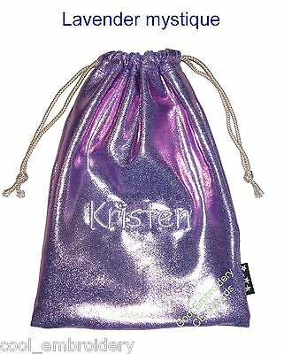 Personalised mystique spandex gift pouch gymnastics grips bag 21cmx28cm CHOICE