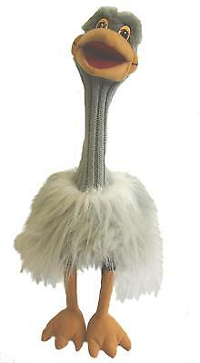 Ozzy Ostrich Puppet Ventriloquist.Play,Educational.Moving mouth with squeaker