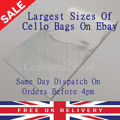 Large Cellophane Self Seal Peel & Seal Cello Craft Picture Bags Range Of Sizes
