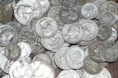 Us Junk Silver Coins 1/2 Lb Pre-1965 Old Lot American Silver Coins