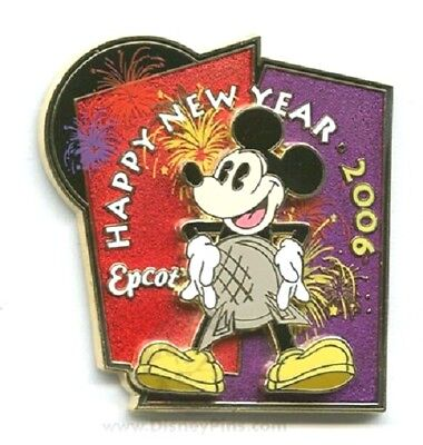 Disney LE Pin Happy New Year 2006 EPCOT Spaceship Earth Mickey WDW + 2018 Map