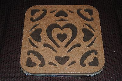 PAMPERED CHEF Round Up From The Heart Cork Trivet 2012 Item # 2947 Hot Pad