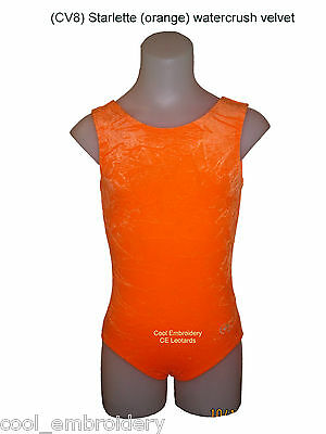 Watercrush Velvet tank CE gymnastics dance aerobics leotard & scrunchie COLOUR