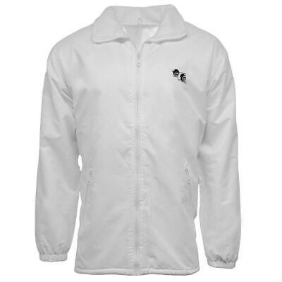 Bowls Bowling White Fleece Lined Waterproof Jacket Coat Sizes: XS - 5XL
