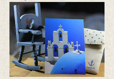 16Pcs Aegean Sea Santorini Travel Photo Home Decoration Print Postcard Art Cards