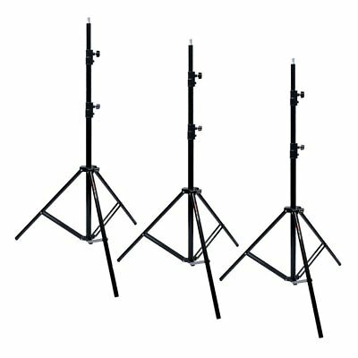 3X Victory 303 Aluminum 260cm 2.6M Heavy Duty Spring Cushioned Light Stand AU