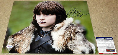 Cool Isaac Hempstead Wright Signed 11x14 Game of Thrones Bran Stark PSA/DNA