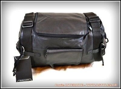 HOT ! Sissy bar bag Solid soft leather NEW for chopper motorcycle harley style !