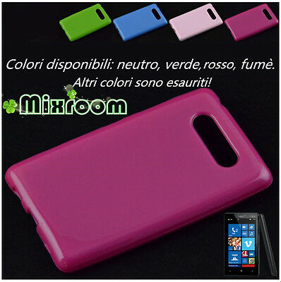 COVER CUSTODIA BACK CASE TPU GEL SILICONE PER NOKIA LUMIA 820
