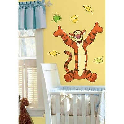 "Disney TIGGER Giant 31"" Wall Stickers Winnie the Pooh Room Decorations Decals"