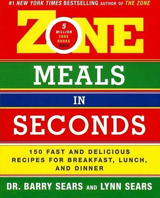 The Zone - Zone Meals In Seconds By Dr Barry Sears - Crossfit Gym Nutrition Mma