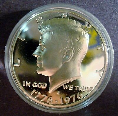1976-S Silver Proof B-Icent Kennedy Half Dollar Deep Cameo Sealed Mint Capsule