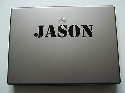 1 x Personalised Name Sticker for Laptops Vinyl Decal Stencil Font Army kids