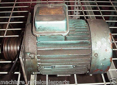B&S Surface Grinder Spindle Drive Motor with 6 Grove Belt Pulley