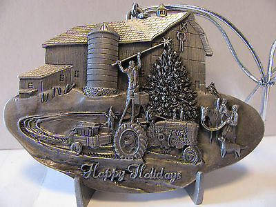 * Case IH 1997 Hanging The Star Series I Pewter Christmas Ornament  NEW!!  CIH