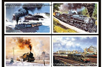 8Pc B Travel The World by Train Vehicle Home Decoration Print Postcard Gift Card