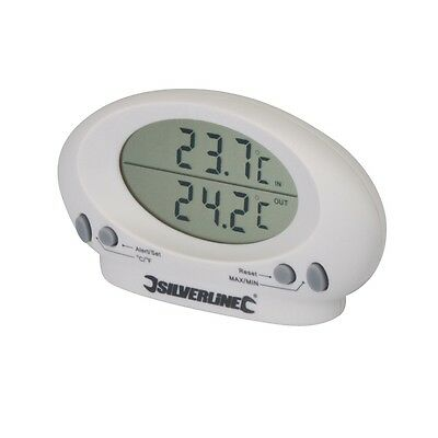 Silverline Digital Indoor/Outdoor Thermometer, Twin Display, LCD Display