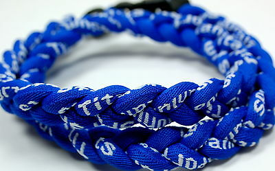 "NEW! BASEBALL Titanium TORNADO Sports Necklaces 20"" All Royal Blue Twist 3 ROPE"