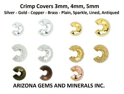 Beadalon Crimp Covers. 3, 4, and 5mm. Silver, Gold, and Copper Color 48/100 PCS.