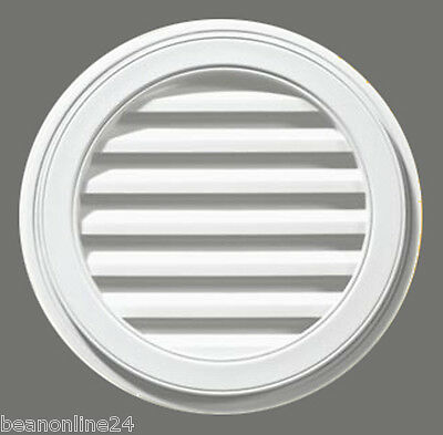 Gable Vent Round 395mm Circular. Copolymer with Woodgrain Effect