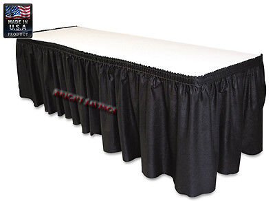 "Black Table Set Linen-Like Table Skirting 29"" X 14'"