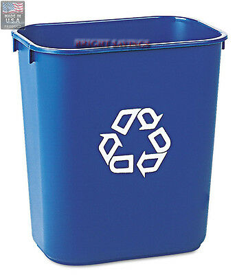 Rubbermaid Commercial Deskside Recycling Recycle Container Bin - 13 5/8 qt