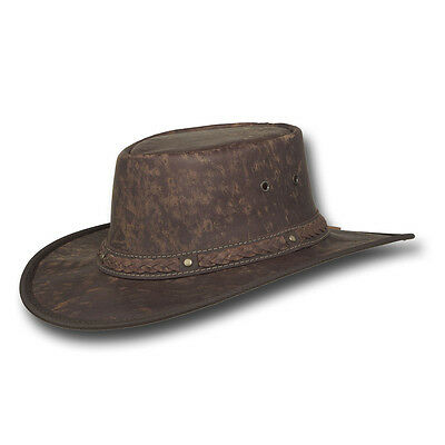 Barmah Hats Kangaroo Crackle Leather Hat - 1018CR / 1018HC